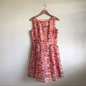Women's floral dress, casual or dressy. Size 8.